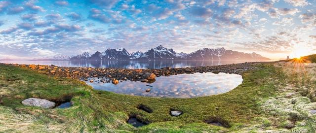 Sommernattspanorama. Gull. © Jan R. Olsen