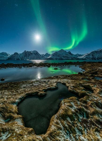 Nordlyslandskap. 43 poeng. © Jan R. Olsen