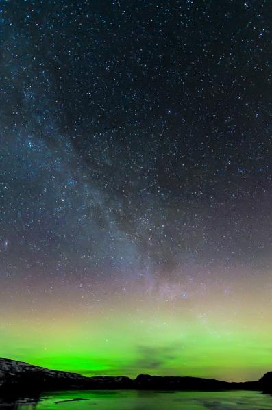 Melkeveien i en base av grønt. 39 poeng. © Kolbein Svensson