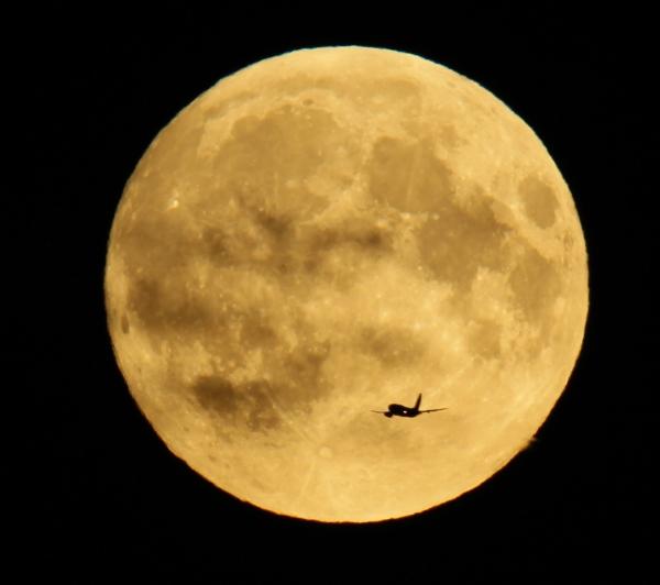 Supermåne med fly. 39 poeng. © Nina Helen Herland