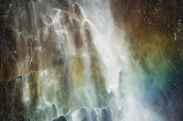 Fossefall i regnbue. 43 poeng. © Terje Sylte