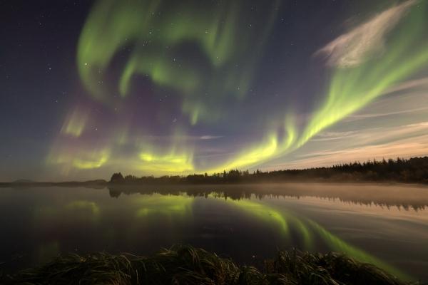 Aurora i frostrøyk og måneskinn. 41 poeng. © Torleif Hansen